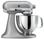 KitchenAid KSM150PSSM Artisan Series 5-Quart Stand Mixer, Silver Metallic