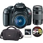 Canon EOS Rebel T3 12.2MP DSLR Camera with 2 Lenses, Bag, 8GB Card and Photo Suite Software