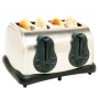 Elite Platinum 4-Slice Electronic Toaster with Bagel, Reheat, Defrost - ECT400X