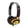 iFrogz EP-NP-4300 EarPollution Nerve Pipe Headphones - Hazard (Black/Gold)