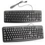 Black USB Wired QWERTY Keyboard Stylish PC Laptop Computer Standard UK Layout
