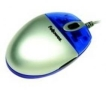 Fellowes Mini Web Pro Optical Mouse - Mouse - optical - 5 button(s) - wired - PS/2, USB - metallic silver, translucent blue