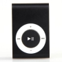Support TF Card USB 2.0 Mini mp3 metal player Black