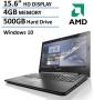 2016 New Edition Lenovo 15.6-inch Premium Laptop, AMD Dual-Core Processor, 4GB Memory, 500GB Hard Drive, HD LED Backlit Display (1366 x 768), DVD Burn