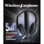 5-in-1 Hi-Fi Wireless Headphones for HDTV, TV, VCD, PC, MP3, MP4, CD, DVD w/FM Radio