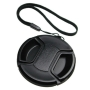 Mennon Pro Center Pinch 55mm Snap-On Lens Cap with Leash