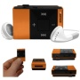 Stuff4® Orange Mini MP3 Player With Micro SD Card Slot + 3.5mm Jack Input + Mini USB Charging Cable + Headphones