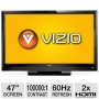 Vizio E470VLE 47 Class LCD HDTV - 1080p, 1920 x 1080, 60Hz, 100000:1 Dynamic, 8 ms, HDMI, USB, Energy Star (Refurbished)