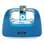 Memorex Mi3X-PNK miniMove Boombox Docking Station (Mi3X-BLU) for iPod - Blue
