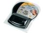 Fellowes Easy Glide Gel Filled Wrist Rest Mouse Pad, Black/Black
