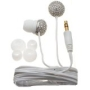 Nemo Digital NF65583-C Crystal Pave Ball Earbud (Clear with White Wires)