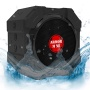 Speaker with Bluetooth for iPhone and Other Mobile Devices, Waterproof, Rugged, Shockproof, Dustproof, Indoor/Outdoor, Hi-Def Bass, Smack Black, by AR