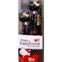 Hello Kitty Stereo Earphones/Earbuds - Black