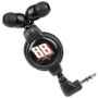 "Merkury Innovations NASCAR Dale Earnhardt, Jr. 38"" Retractable Earbud Stereo Headphones w/3.5mm Jack (Black)"