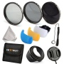 K&F Concept 58mm 3pcs ND2 ND4 ND8 Lens Accessory Filter Kit Neutral Density Filter for Canon 600D EOS M M2 700D 100D 1100D 1200D 650D DSLR Cameras + M