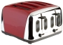 Prestige Deco Toaster, Red, 4 Slice