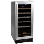 Haier HVCE15BBH 26 Bottle Built-in Wine Refrigerator with Stainless Steel Door