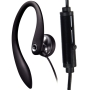 One Good Earbud - Flexible Earhook Stereo-to-mono Headphone for the Right Ear with Microphone
