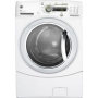 "GE GFWH2405LMV GFWH2405LMV 27"" Vermillion Red Front-Load Washer With Internal Water Heater Adaptive Vibration Control Speed Wash eWash Option 4.1 DOE"