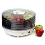 Maxi-Matic EFD-1010 Elite Gourmet 5-Tray 135-Watt Rotating Food Dehydrator, White