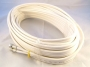 10m White Twin Satellite Shotgun Cable Sky Plus &amp; Clips