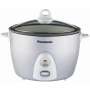 Panasonic 10-Cup Automatic Rice Cooker with Steaming Basket - Silver Color