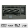Usb Full Size Pos Keyboard With Touchpad Mouse Kb-730bu