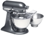 KitchenAid KSM110PS Custom 300-Watt 4-1/2-Quart Stand Mixer, Black Chrome