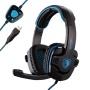 ZPS Sades Stereo 7.1 Surround Pro USB Gaming Headset with Mic Headband Headphone (Black)