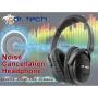 Dr. Tech Anc-125b Active Noise-cancellation Headphone W/ Airplane Plug