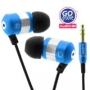 GOgroove audiOHM Ergonomic Retro Blue Earbuds with Interchangeable Noise-Reduction Silicon Ear Pieces Compatible With Amazon Kindle Fire , Kindle eRea