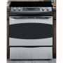 """GE - Profile 30"""" Built-In Double Electric Convection Wall Oven - Stainless-Steel"""