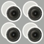 "4 New Pairs of 6.5"" In Ceiling Surround Sound HD Home Theater Round Kevlar Speakers 4TS65C"