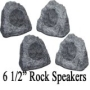 "2 Pairs of New 6.5"" Woofers Outdoor Garden Waterproof Granite Rock Patio Speakers 4R6G"