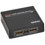 Duronic HS12 - 2 Way HDMI Splitter box - LATEST High Performing HDMI TECHNOLOGY - 1 input 2 output - Full HD 1080p 3D enabled - Displays 1 HD source t