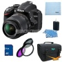 Nikon D3200 DX-format DSLR Kit w/ 18-55mm DX VR Zoom Lens and 55-300mm VR Lens (Black)