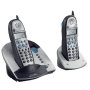 GE 2.4 GHz Expandable Dual-Handset Cordless Phone, 21025GE2