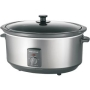 Morphy Richards 48718 Oval Slow Cooker, 6.5 Litre - Stainless Steel