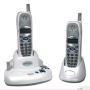 Northwest Bell 5.8GHz FH-SST Cordless Expandable 2-line Speakerphone with CIDCW/DTAD in Silver/Black