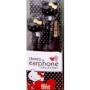 Sanrio Hello Kitty Black Stereo Earphones
