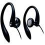 Black Ear-Hook Stereo Headphones