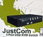 JustCom JC-M104U 4-Port USB KVM Switch
