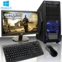 ADMI GAMING PC PACKAGE: Powerful Desktop Computer, 23.6 Inch 1080p Monitor with Speakers, Keyboard & Mouse Set (PC SPEC: AMD A8-6600K 4.2GHz Quad Core