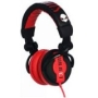 SUBJEKT MK-AG8100R BlockParty DJ Headphones (Matte Finish Black/Red)
