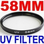 NEEWER 58 mm 58mm UV Filter for Canon Nikon Sony Sigma Tamron