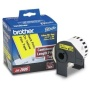 Brother DK-2606 Continuous Length Film Label Roll (Black/Yellow)