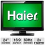 Haier L24B1180 24 Class LCD HDTV - 1080p, 1920 x 1080, 16:9, 60Hz, 5 ms, 2100:1, HDMI, USB (Refurbished)