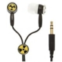 KonoAudio IP-GRF-5009 iPopperz Radioactive Earbuds on Black Cord