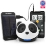 GOgroove Panda Pal Portable Speaker With Solar ReStore External Battery Pack for HTC , Motorola , Samsung , and Other Smartphones!