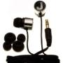 Nemo Digital NDF10176BK-M Crystal Letter M Earbud (Black)